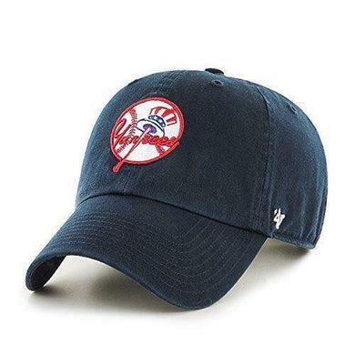 New York Yankees Hat MLB Cooperstown Logo Authentic 47 Brand Clean Up