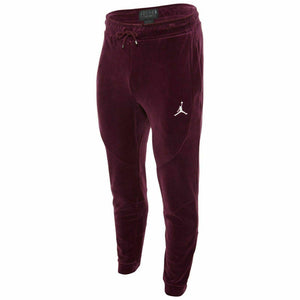 Mens Air Jordan Velour Pants Joggers AH2361 609 Bordeaux JSW Burgundy - City Limit NY