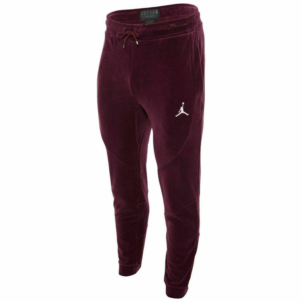 Mens Air Jordan Velour Pants Joggers AH2361 609 Bordeaux JSW Burgundy