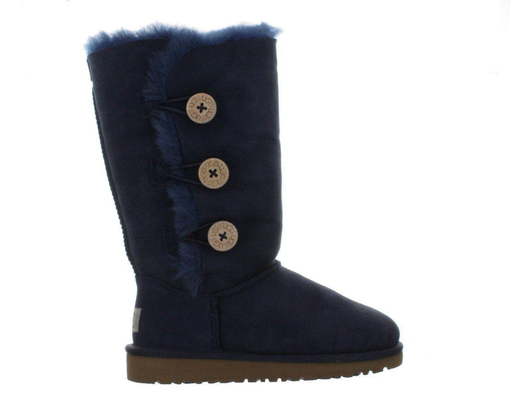 Big Kids Ugg Bailey Button Triplet Navy Blue Boot 1962K-NVB
