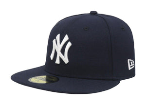 New Era 59Fifty Mens MLB Cap New York Yankees 2019 AC OnField Game Navy Blue Hat - City Limit NY