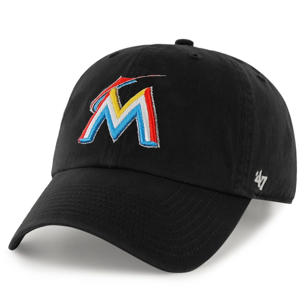 Men's Miami Marlins Clean Up Home 47 Brand Adjustable Hat