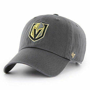 '47 NHL Las Vegas Golden Knights Clean Up Adjustable Hat, One Size, Charcoal - City Limit NY