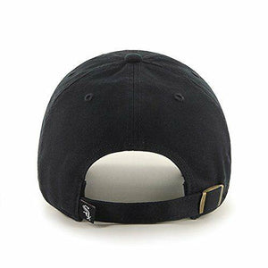 Chicago White Sox 47 Brand Clean Up Adjustable Field Classic Black Hat Cap MLB