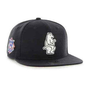 Chicago Cubs '47 Brand Cooperstown Sure Shot Adjustable Snapback Hat - Navy - City Limit NY