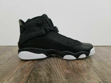 Nike Air Jordan 6-Rings Youth Sizes Black Matte Silver White 323419-021 Sz 5