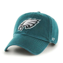 Load image into Gallery viewer, NFL Philadelphia Eagles '47 Clean Up Adjustable Hat, Pacific Green, One Size - City Limit NY