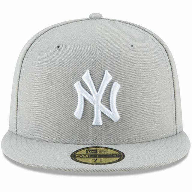 New Era MLB New York Yankees Basic 59Fifty Cap, Grey