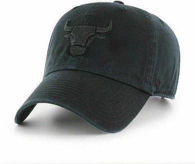 '47 BRAND Chicago Bulls Clean up All Black/black Current Logo Dad Hat Cap