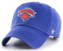 Load image into Gallery viewer, '47 Brand New York Knicks NBA Clean Up Strapback Hat Blue