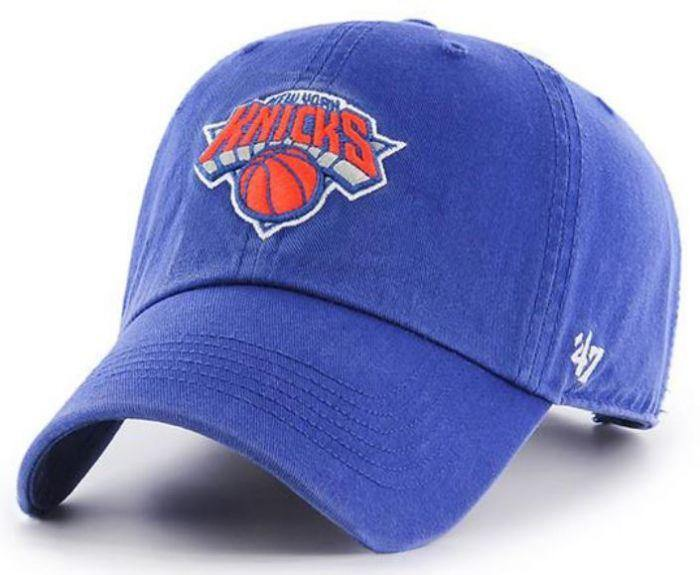 '47 Brand New York Knicks NBA Clean Up Strapback Hat Blue