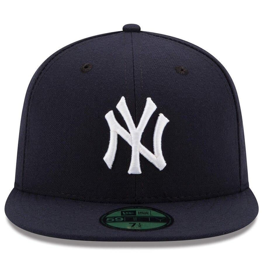 New Era 59Fifty Mens MLB Cap New York Yankees 2019 AC OnField Game Navy Blue Hat