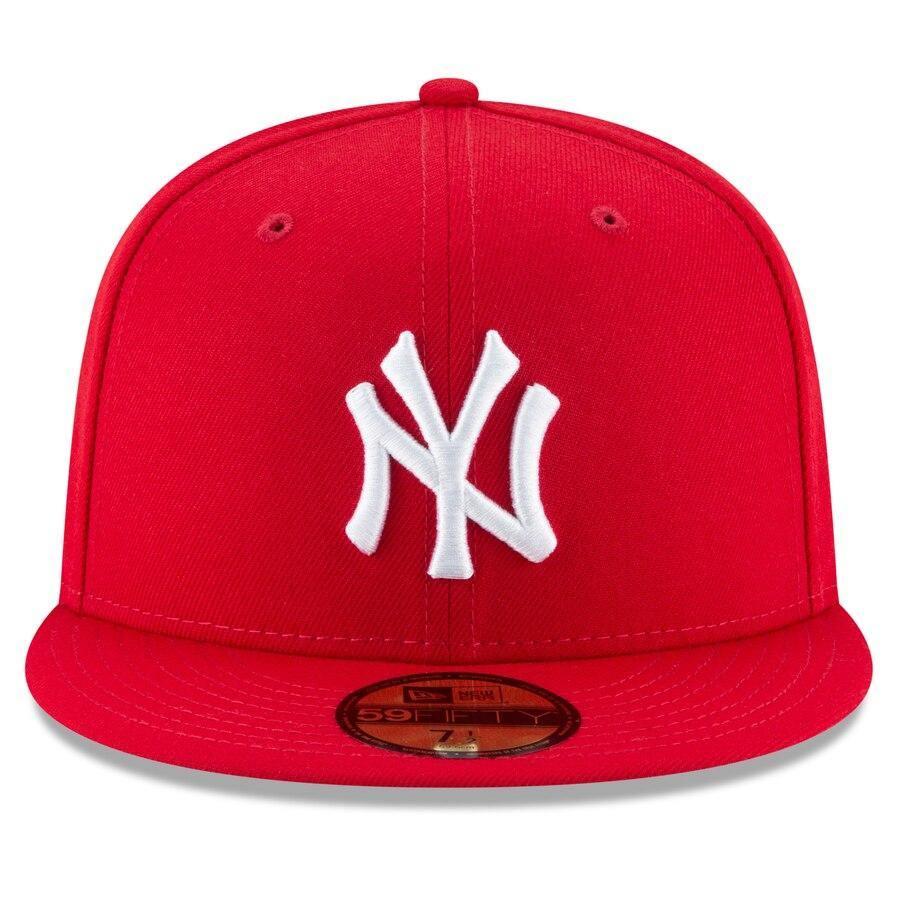 New York Yankees New Era Fashion Color Basic 59FIFTY Fitted Hat - Scarlet - City Limit NY