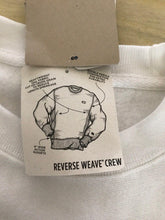 Load image into Gallery viewer, Mens White Champion Reverse Weave Pullover Sweatshirt Champion LOGO
