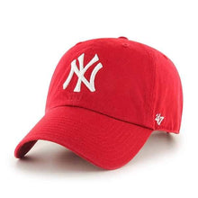 Load image into Gallery viewer, New York Yankees 47 Brand Red Clean Up Adjustable Hat - City Limit NY