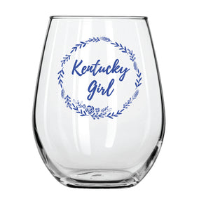 Kentucky Girl Stemless Wine Glass