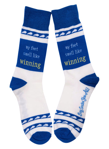 My Feet Smell Like Winning Blue and White