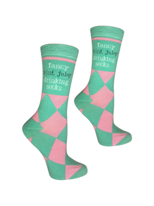 Fancy Mint Julep Drinking Socks