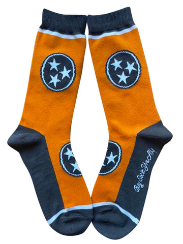 Tennessee Tri-Star in Orange and Grey