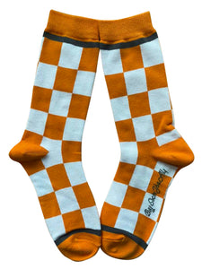 Checkerboard in Orange and White