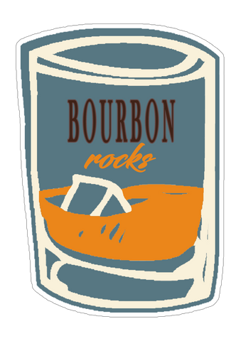 Bourbon Rocks Sticker (6 pk)