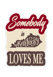 Somebody in Kentucky Loves Me Sticker (6 pk)