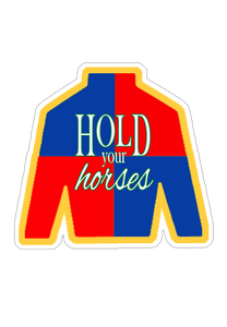 Derby Silk Hold Your Horses Sticker (6 pk)