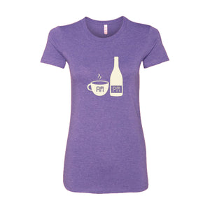 Wine and Latte AM PM Women's T-Shirt