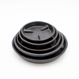 Raised Rib Saucer - Black