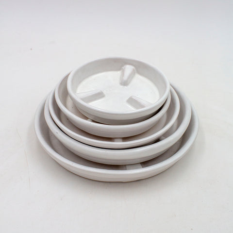 Raised Rib Saucer - White