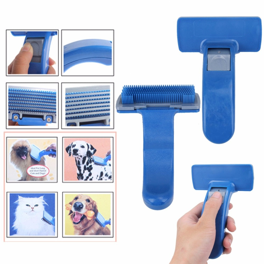 Pet Brush Comb Puppy Dog Cats Self Cleaning Combs Hair Trimmer Grooming Tools for Dog Animals Pet Cleaning Supplies