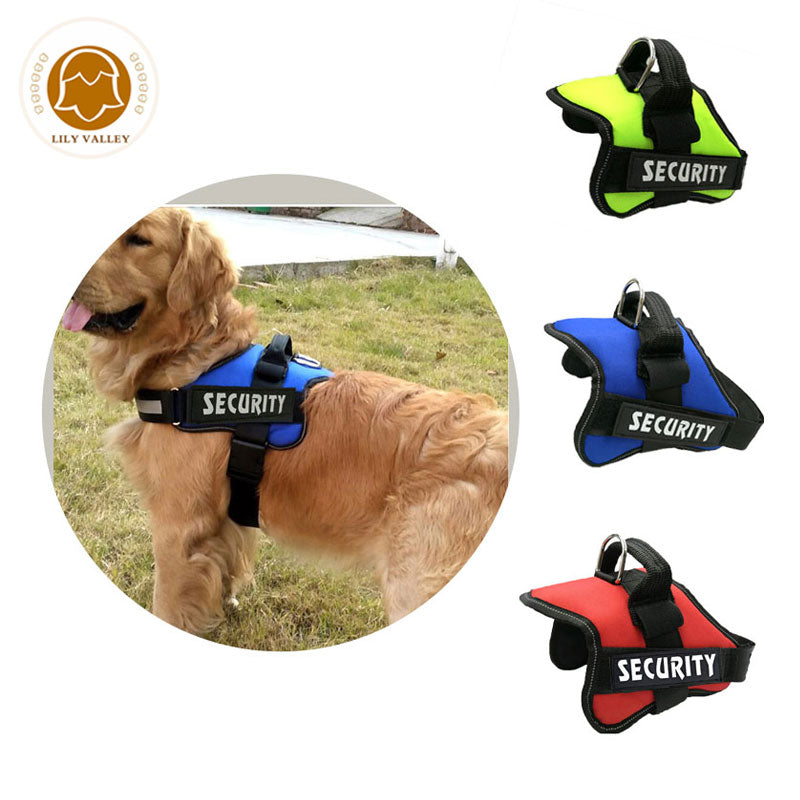 New Pet Dog Harness Puppy Large Service Dog Vest Outdoor Training Walking Padded Mesh Chest Lead For Dogs Pet Harness Supplies