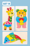 Montessori 3D Animal Shaped Puzzle (Set of 3)