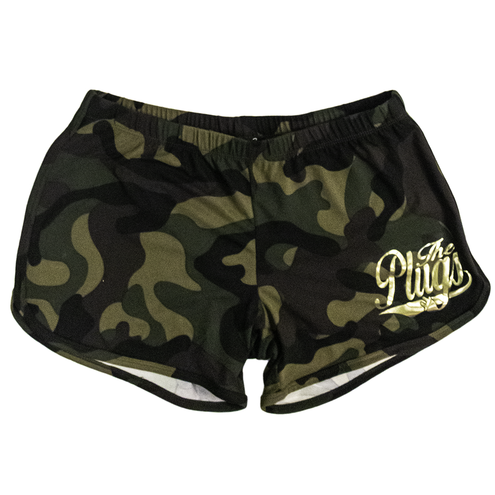 THE PLUGS CAMO GYM SHORT