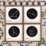 Zodiac Constellation Wood Sign