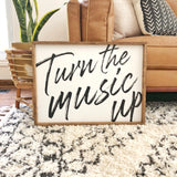 Turn the Music Up Wall Art