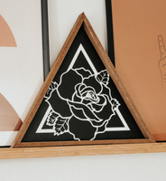 Bohemian Rose Wall Sign