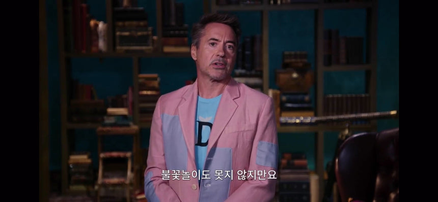 Robert Downey Jr. Wears VICTOR LI