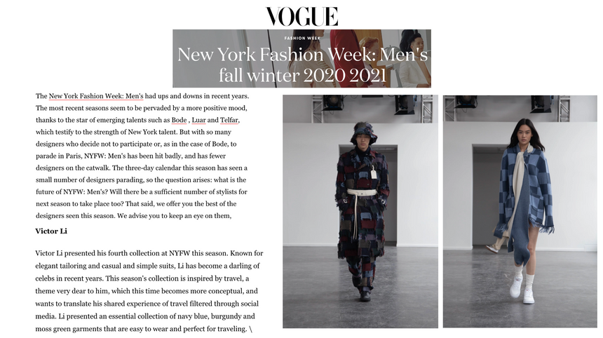 VOGUE Italia - FW20 Feature