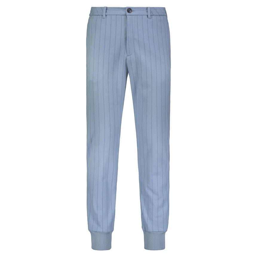 Cuffed Tailored Joggers Dusty Blue stripe