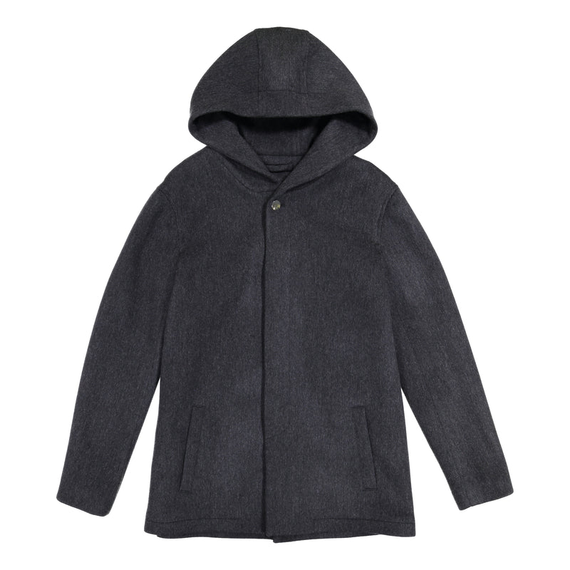 Hooded Jacket Charcoal