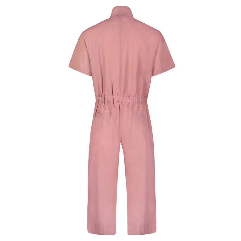 CLOSED-PLEAT JUMPSUIT