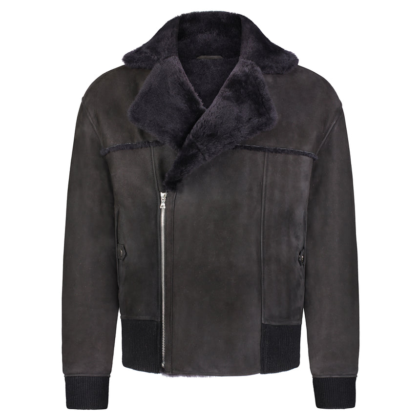 Shearling Flight Jacket Midnight