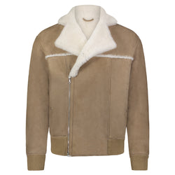 Shearling Flight Jacket Taupe