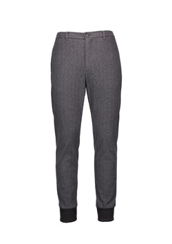 Cuffed Tailored Joggers Dark Grey stripe