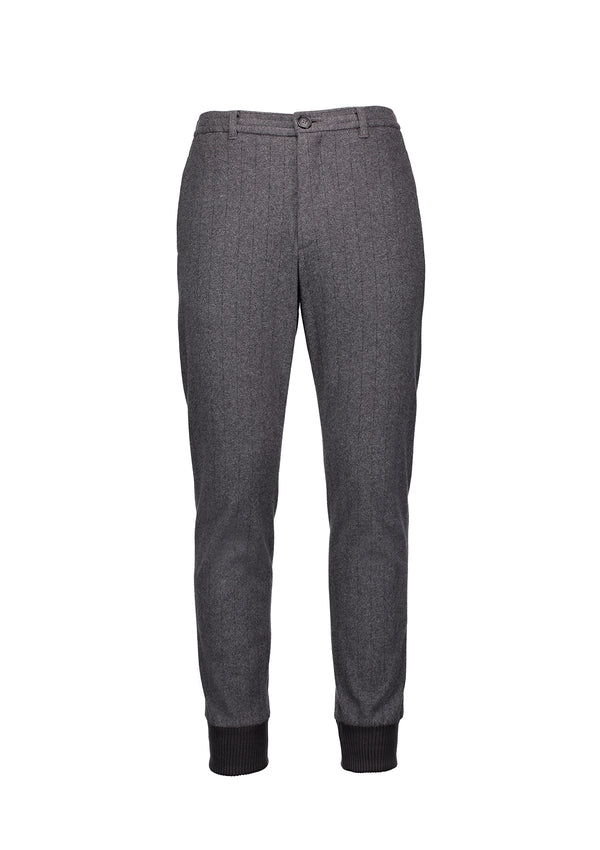 Cuffed Tailored Joggers Charcoal stripe