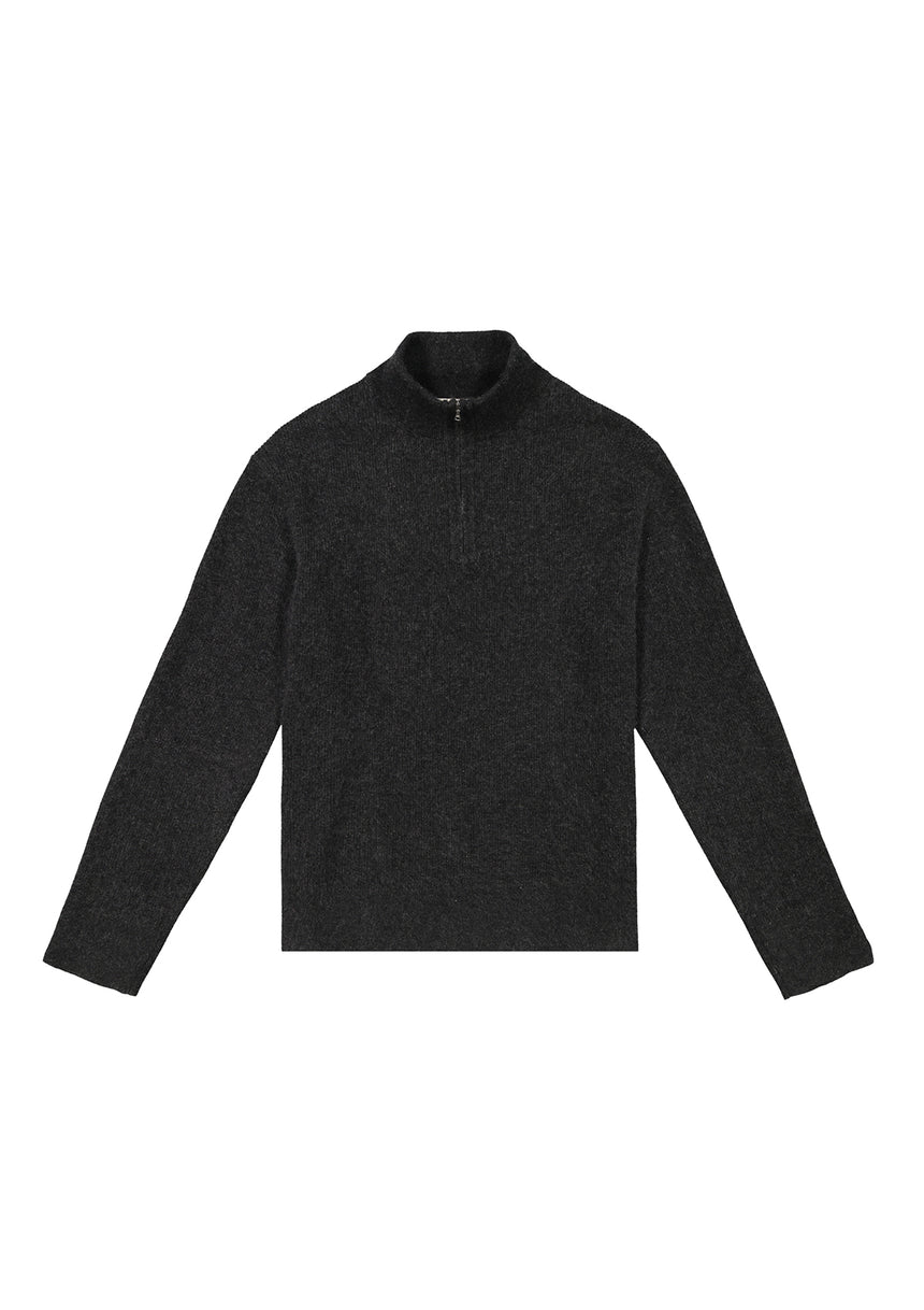Half Zip Turtleneck Charcoal