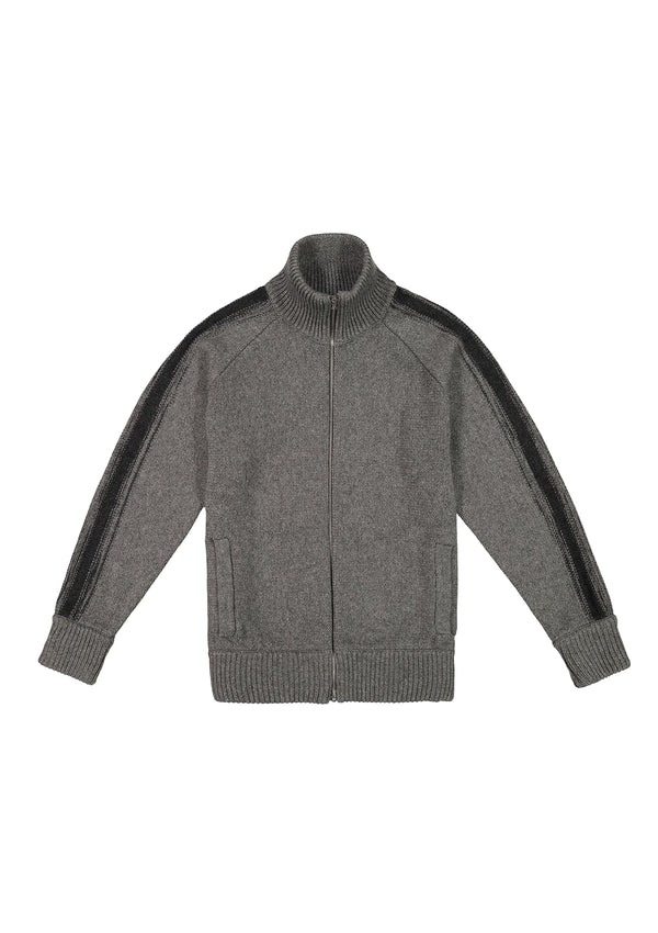 Zip Up Cardigan Grey