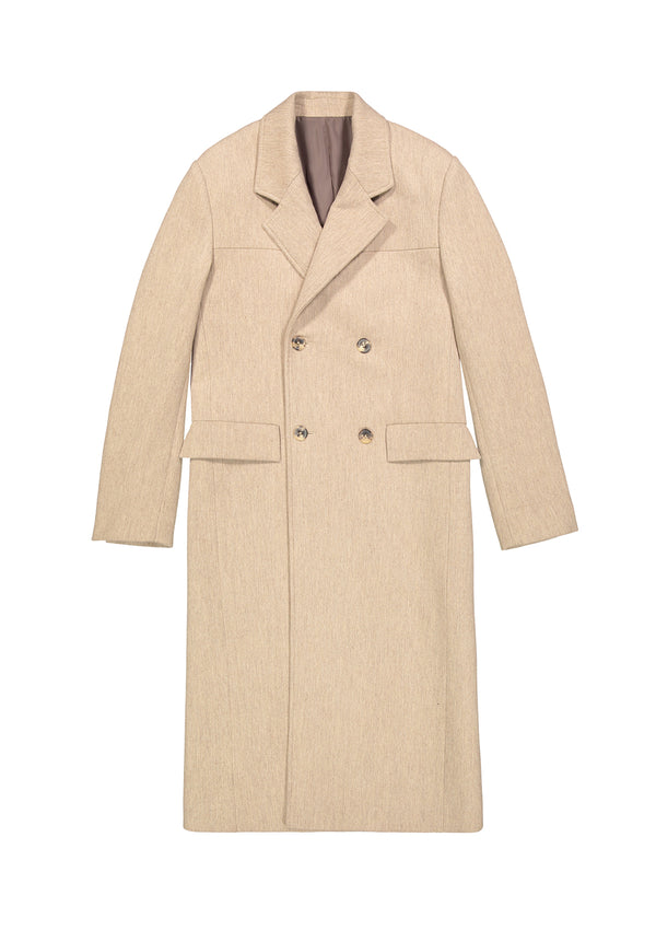 Double Breasted Coat Beige