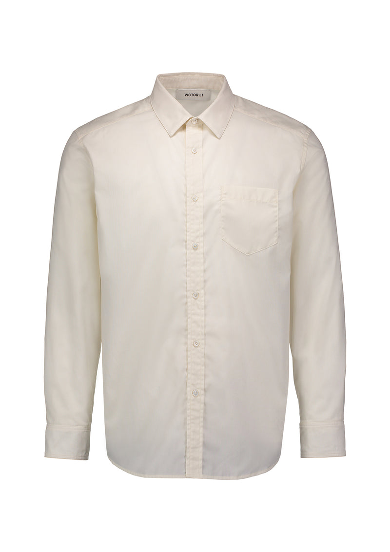 Button Down Shirt Winter White